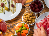 olives ham and fish served in our gourmet food tours in Lisbon at Treasures of Lisboa