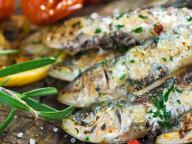 grilled sardines with thym and dried tomatoes served in our gourmet food tours in Lisbon at Treasures of Lisboa