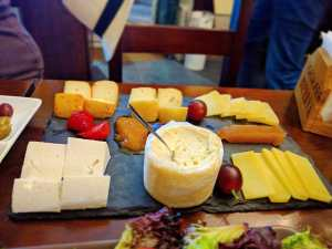awesome cheese plate as served in our food tours in Lisbon at Treasures of Lisboa