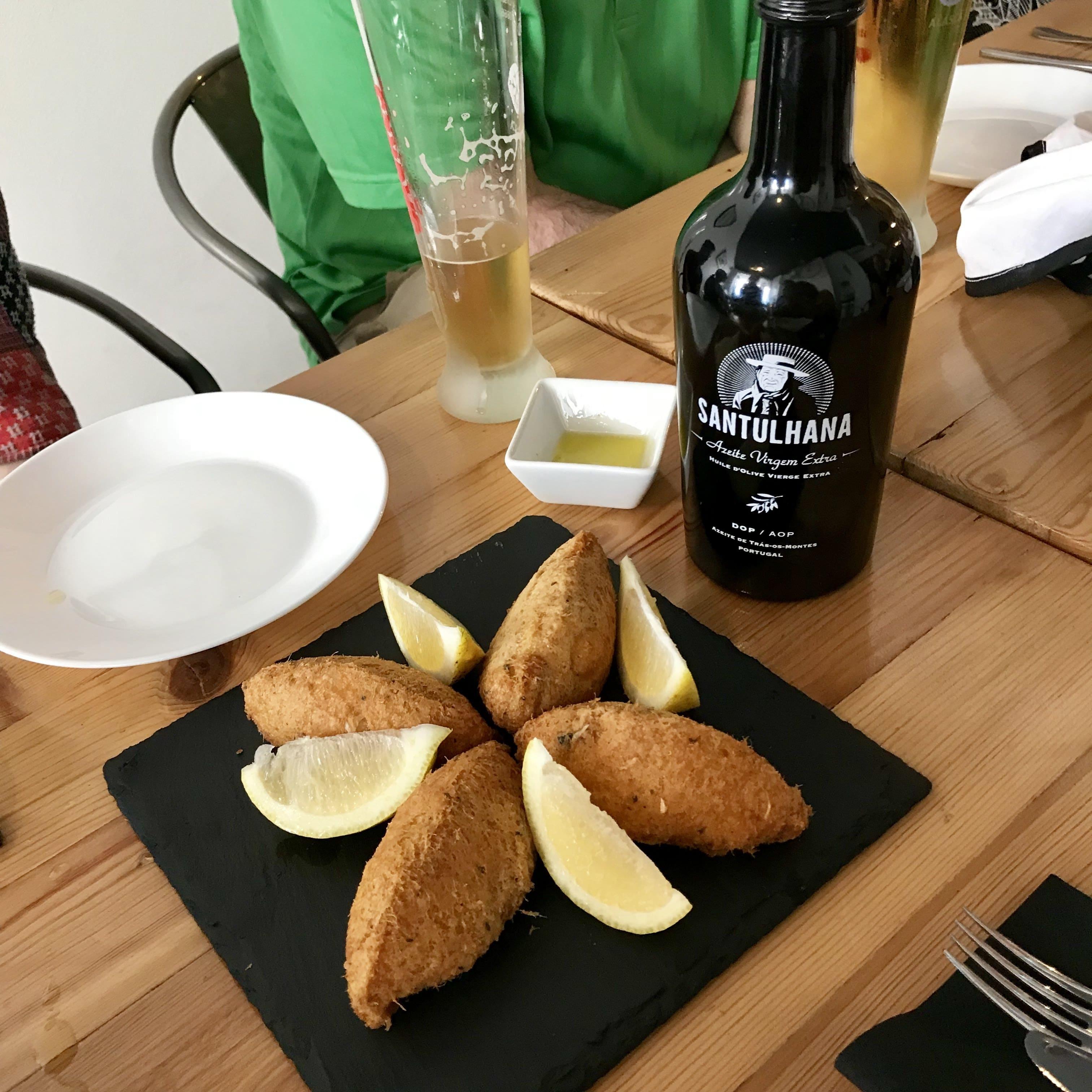 taste the best codfish cakes with treasures of lisboa in Lisbon