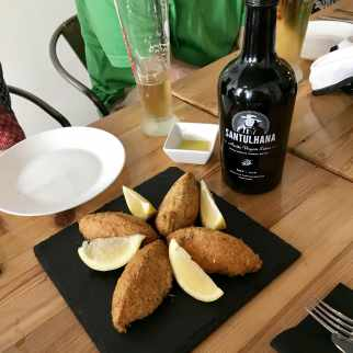 taste the best codfish cakes with treasures of lisboa in Lisbon