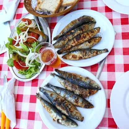 Portuguese sardines on the best gourmet tour in lisbon with treasures of lisboa