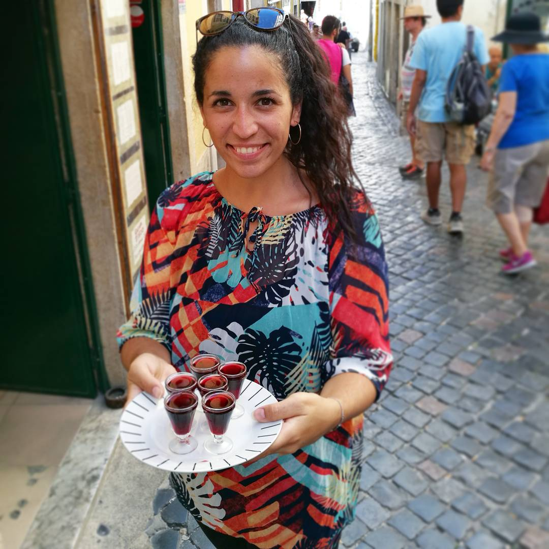 sour cherry liquor served on the best food tour in lisbon called treasures of lisboa