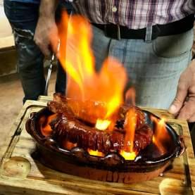 the best flammed chouriço in Lisbon