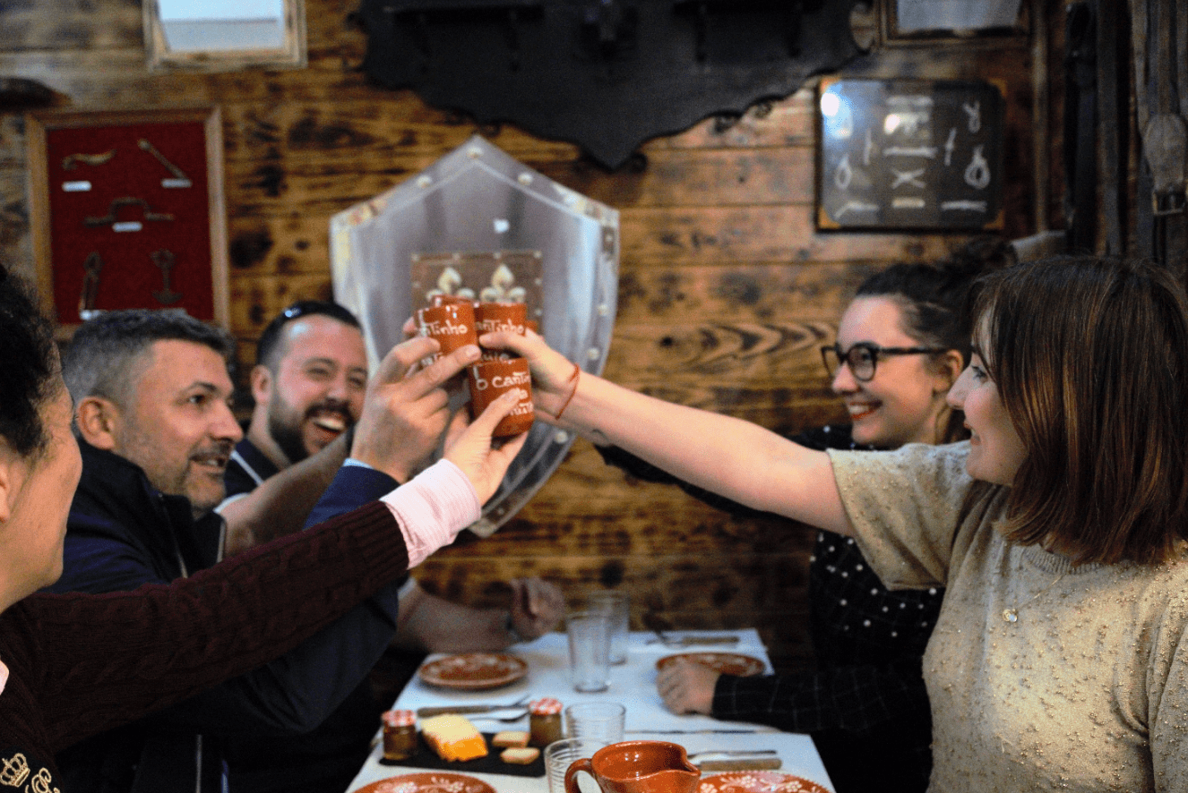 treasures of lisboa food tours in lisbon - group cheering