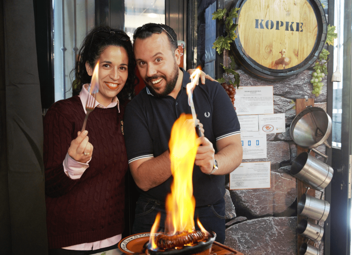 treasures of lisboa food tours in lisbon - owners Ruthy and Marcio
