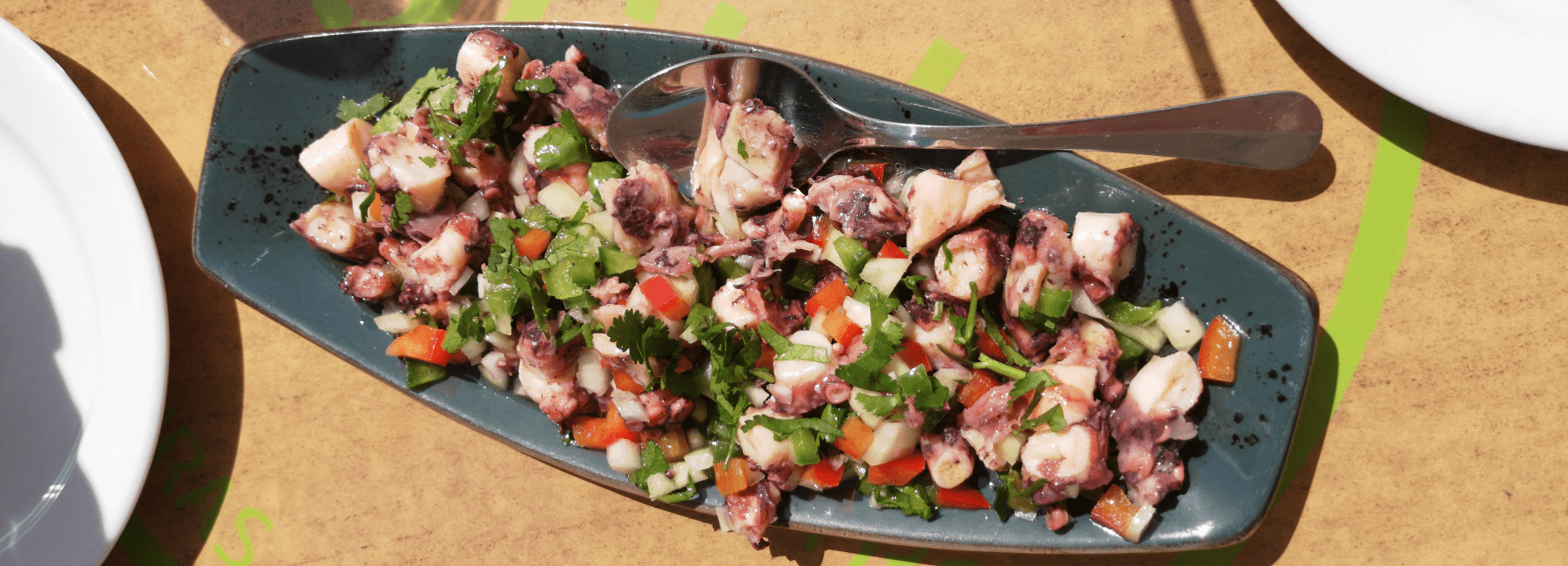 octopus salad served by treasures of lisboa food tours